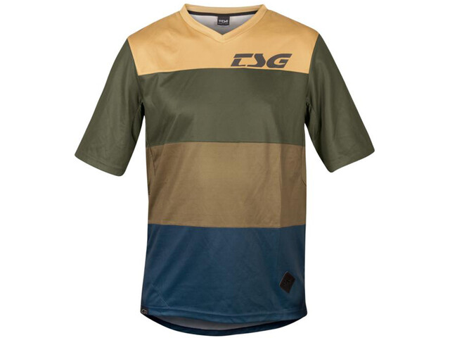 TSG Swamp Shortsleeve Jersey, olive/beige